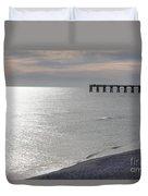 A Quite Beach Day Duvet Cover