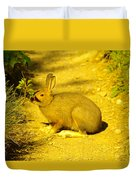 A Rabbit In My Path Duvet Cover
