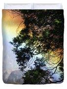 A Rainbow Below Yosemite Falls Duvet Cover