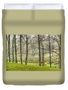 A Rainy Day At The Cemetery Duvet Cover