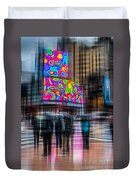 A Rainy Day In New York Duvet Cover by Hannes Cmarits