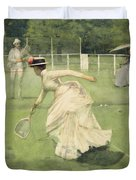 A Rally, 1885 Duvet Cover by Sir John Lavery