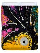 A Rare Bird - Tropical Parrot Art By Sharon Cummings Duvet Cover
