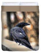 A Raven In Winter Duvet Cover