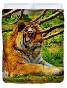 A Real Detroit Tiger Duvet Cover