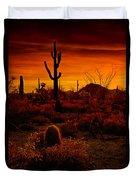 A Red Desert  Duvet Cover