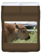 A Red Dog In Yellowstone Duvet Cover