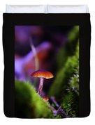 A Red Mushroom  Duvet Cover