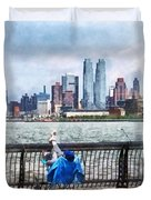 A Relaxing Day For Fishing Duvet Cover