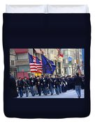 A Revolutionary Battalion Marching In The 2009 New York St. Patrick Day Parade Duvet Cover