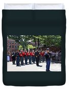 A Revolutionary Battalion Marching In The St. Patrick Old Cathedral Parade Duvet Cover