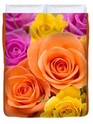 A Riot Of Roses Duvet Cover