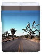 A Road Leads Through Joshua National Duvet Cover