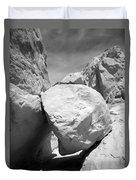 A Rock In A Hard Place. Duvet Cover