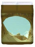 Rock Inside The Window Duvet Cover