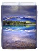 A Rocky Sunset Duvet Cover