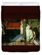 A Roman Emperor   Claudius Duvet Cover by Sir Lawrence Alma Tadema