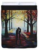 A Romantic Kiss Duvet Cover