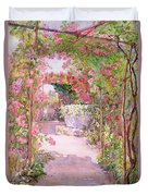 A Rose Arbor And Old Well, Venice Duvet Cover