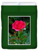 A Rose For Valentine's Day Duvet Cover