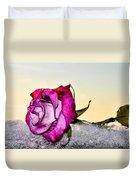 A Rose In Winter Duvet Cover
