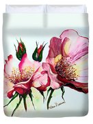 A Rose Is A Rose Duvet Cover by Karin  Dawn Kelshall- Best