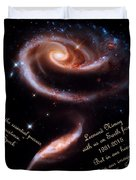 A Rose Made Of Galaxies For Spock Duvet Cover