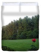 A Rose With A View Duvet Cover