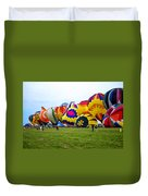 A Row Of Hot Air Balloons Left Side Duvet Cover
