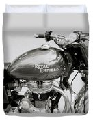 A Royal Enfield Motorbike Duvet Cover