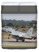 A Royal Saudi Air Force F-15c Landing Duvet Cover
