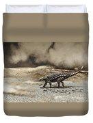 A Saichania Chulsanensis Dinosaur Duvet Cover