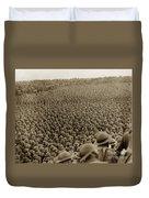 A Sea Of Helmets World War One 1918 Duvet Cover