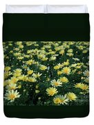 A Sea Of Yellow Daisys Duvet Cover