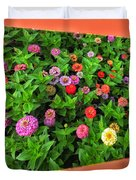 A Sea Of Zinnias 06 Duvet Cover