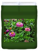 A Sea Of Zinnias 09 Duvet Cover