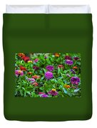 A Sea Of Zinnias 14 Duvet Cover