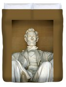 A Seated Abe Lincoln Duvet Cover