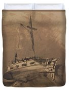 A Ship In Choppy Seas Duvet Cover