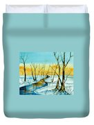 A Sign Of Winter Duvet Cover