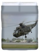 A Sikorsky S-61a4 Helicopter Duvet Cover