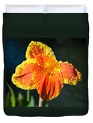 A Single Orange Lily Duvet Cover