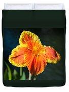 A Single Orange Lily Duvet Cover