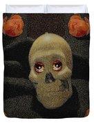 A Skull In The Dark Pop Art Duvet Cover