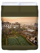 A Skyline View Of Roof Tops Duvet Cover