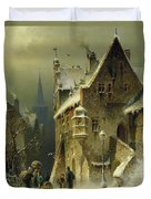 A Small Town In The Rhine Duvet Cover