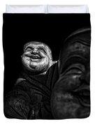 A Smile On The Shoulder - Bw Duvet Cover