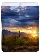A Sonoran Desert Sunrise Duvet Cover