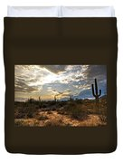 A Sonoran Desert Sunset  Duvet Cover