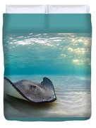 A Southern Stingray Duvet Cover
